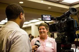 news reporter, journalist, camera, interview,