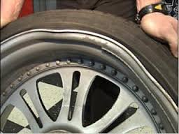 tyre dent, car dent, rim damage