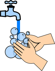 person washing hands image cartoon