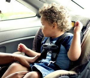 child in safety seat, child car seat